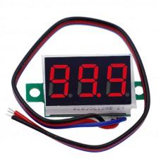 DC digital voltmeter 4.5V-100V Red